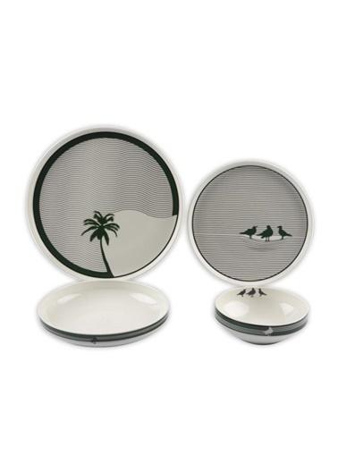 Mikasa Moor Palm Modern 24 Parça Yemek Takımı Renkli